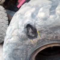 Ремонт колеса 23.5х25 #шиномонтаж #выезднойшиномонтаж #ремонтколес #вулканизация