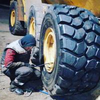 Замена колёс самосвал BL #шиномонтаж #выезднойшиномонтаж #шиномонтажспецтехники